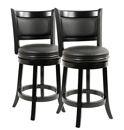 Pleasing Boraam Augusta Counter Height Swivel Stool 24 Inch Black 2 Pack Gmtry Best Dining Table And Chair Ideas Images Gmtryco