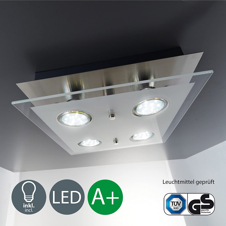 LED Deckenlampe I 4 flammiger Deckenstrahler I inkl. 4 x 3 W GU10 ...