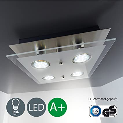 Plafoniera Led Da Soffitto Lampada Moderna Da Soffitto Include 4
