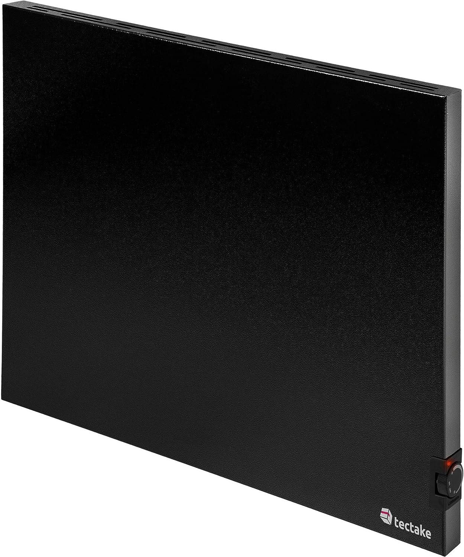 inkl TecTake 800670 Hybrid Infrarotheizung mit Thermostat Wandhalterung /Überhitzungs- und /Überspannungsschutz schwarz diverse Gr/ö/ßen - 1400Watt | Nr. 403130