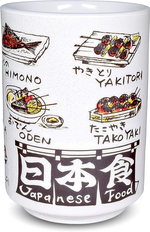 Japanese Yunomi Sushi Tea Cup Mino Ware, Japanese Food Print