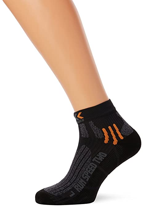X-Socks Funktionssocken Run Speed Two - Calcetines, Color Negro (Black/Grey