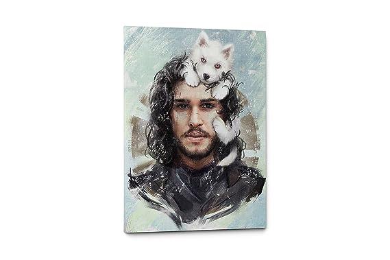 "John Snow Games of Thrones Canvas Wall Art Decor (11"" W x 17"" H, John Snow)"