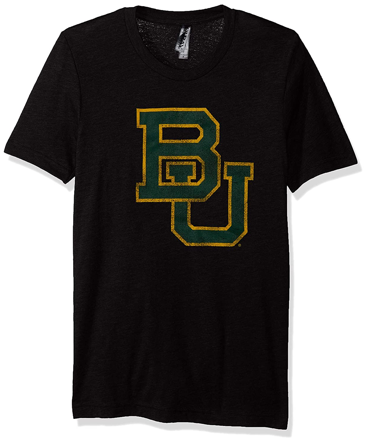 Large NCAA Baylor Bears Mens Tri Blend Short Sleeve Tee Vintage Black