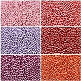 600 stk 6 Farben Tschechische Gepresste Glasperlen Rund 3 mm, Set RP 320 (3RP025 3RP026 3RP027 3RP036 3RP037 3RP039)