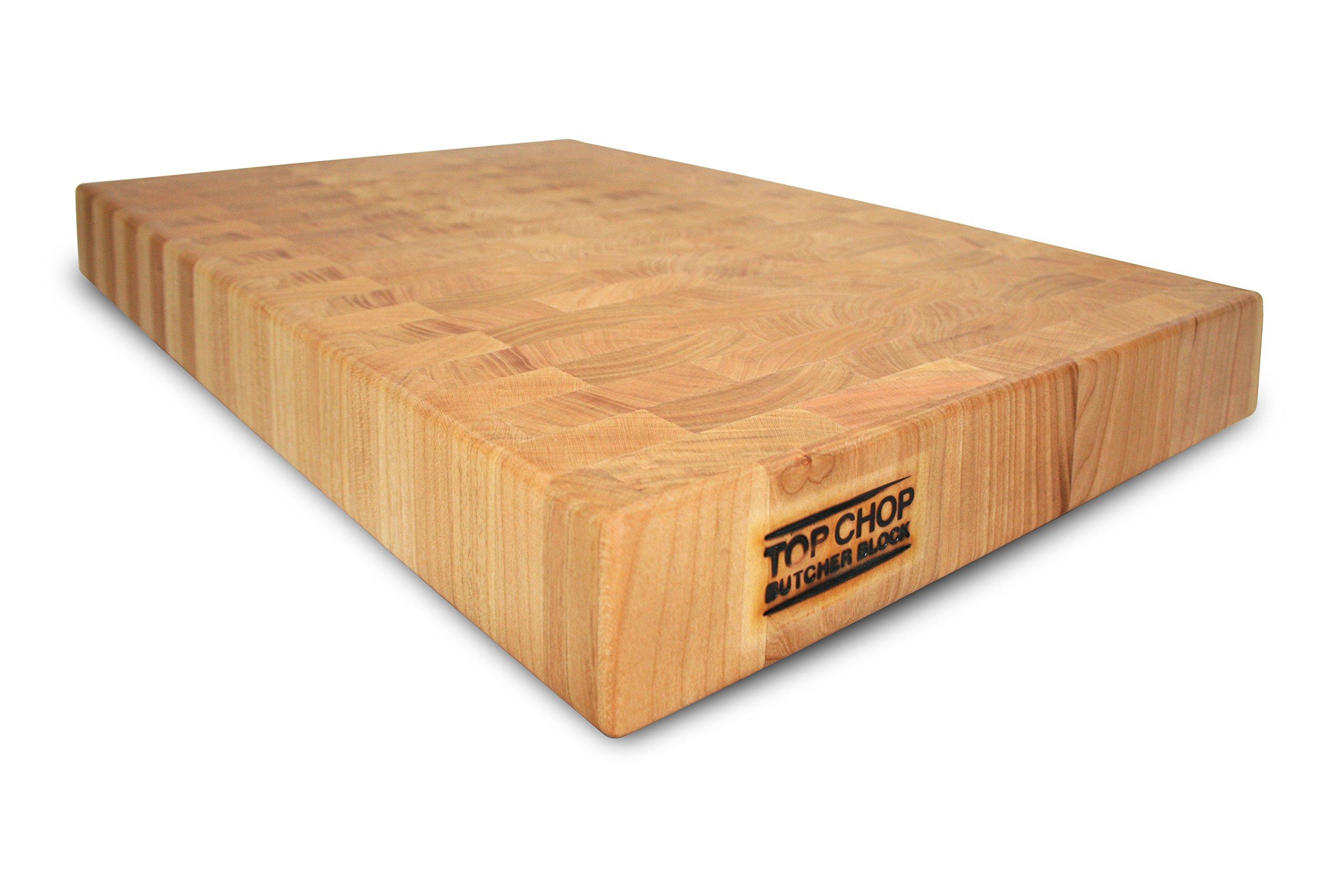 Top Chop Butcher Block Premium Reversible End Grain Cutting Board, Cherry, 12'' x 18'' x 2'' by Top Chop Butcher Block