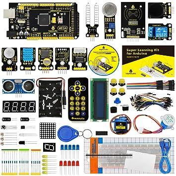 KEYESTUDIO Starter Kit de Arduino con Guías Tutorial, Placa Controladora MEGA 2560 Mega Kit,