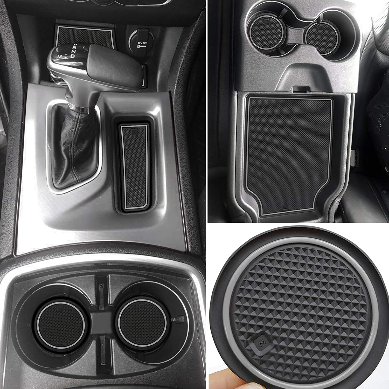 Dark Blue 24pcs//Set Auovo for Dodge Charger Accessories 2015-2020 Anti-dust Car Cup Holder Inserts,Center Console Liner Mats,Door Pocket Liner Mat Premium Custom Interior