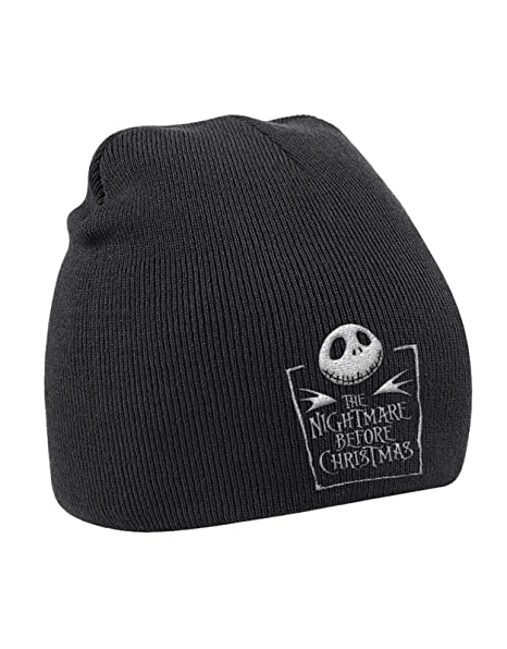 the nightmare before christmas beanie hat movie logo official mens black