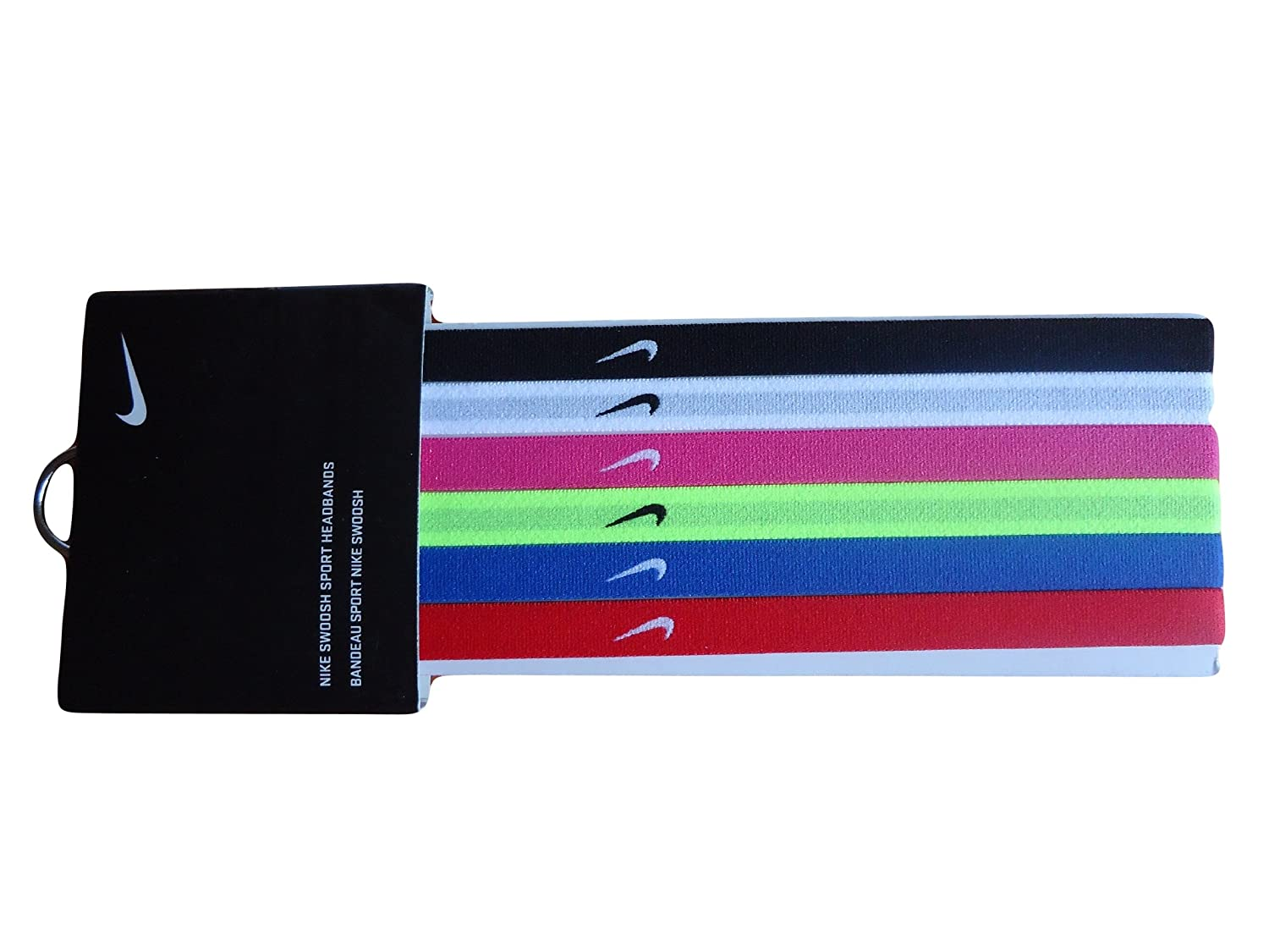 Nike Sport Bands Headband Hairband Multicolours 6 Pack Football Tennis 1a23fa43418