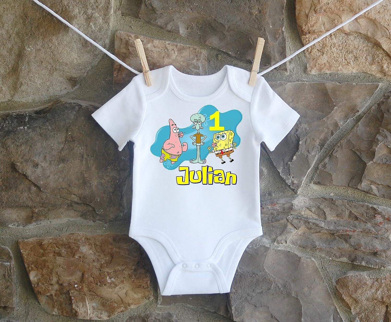 Spongebob Squarepants Birthday Shirt For Boys Personalized