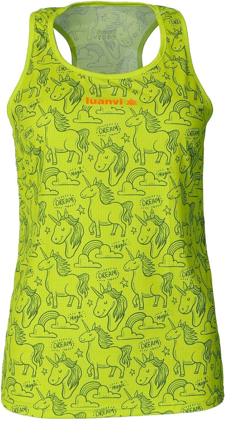 Luanvi Camiseta de Manga Corta Estampado Unicorn Edici/ón 2019 Mujer