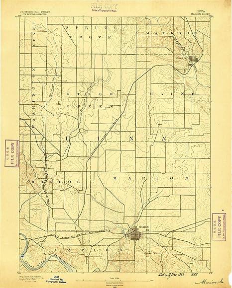 Amazon.: YellowMaps Marion IA topo map, 1:62500 Scale, 15 X 15