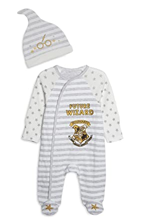 b751b89de Harry Potter Baby Sleepsuit with Hat Babygrow Future Wizard (6-9 ...