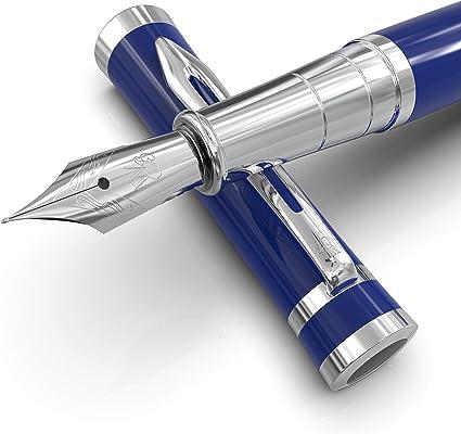 Juego de pluma estilográfica Imperial Blue Luxury de Wordsworth & Bläck con estuche de regalo de