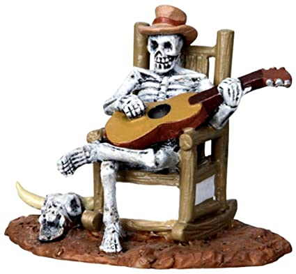 amazon com lemax spooky town rocking chair skeleton 22003 home
