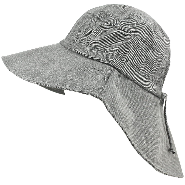 e63e8ced8be55 Packable Summer Beach Sun Hat - Long Back Wide Brim