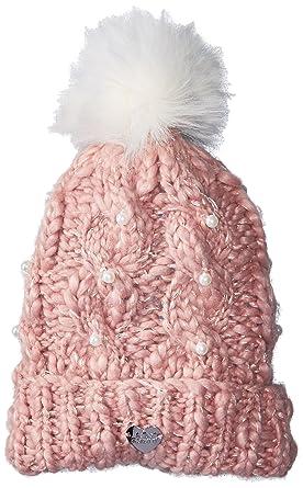 3094c9ba1674a3 Amazon.com: Betsey Johnson Women's Pearly Girl Cuff Hat, Blush, One ...