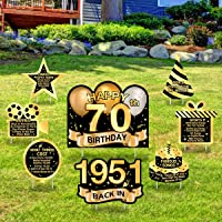 Greatingreat Happy Adult 70th-1951 Birthday Yard Sign 70th Birthday Party Decorations Outdoor Lawn Sign Birthday Party…