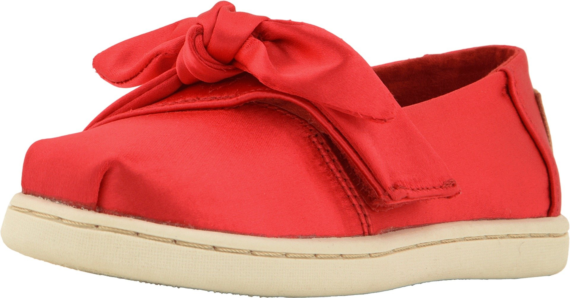 TOMS Kids Baby Girl's Alpargata  (4 M US Toddler, Lava Satin/Bow)