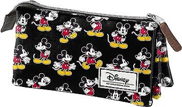 Mickey Mouse- Disney Classic Mickey Estuche portatodo Triple, Color Negro, 24 cm (Karactermanía 33611): Amazon.es: Juguetes y juegos