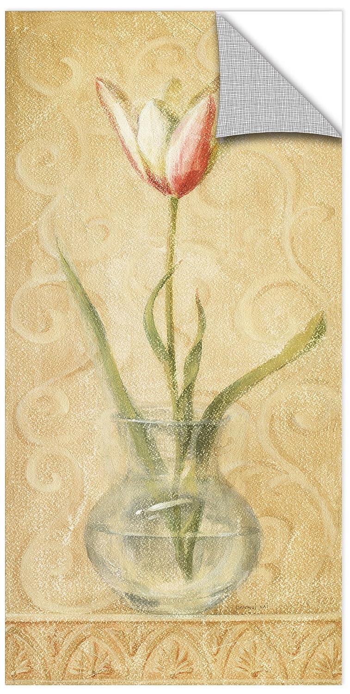 Danhui Nai Vintage Tulip Glass Removable Wall Art Mural 12X24