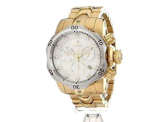 Amazon.com: Invicta Mens Venom Quartz Stainless Steel Casual Watch, Color:Gold-Toned (Model: 23893): Invicta: Watches