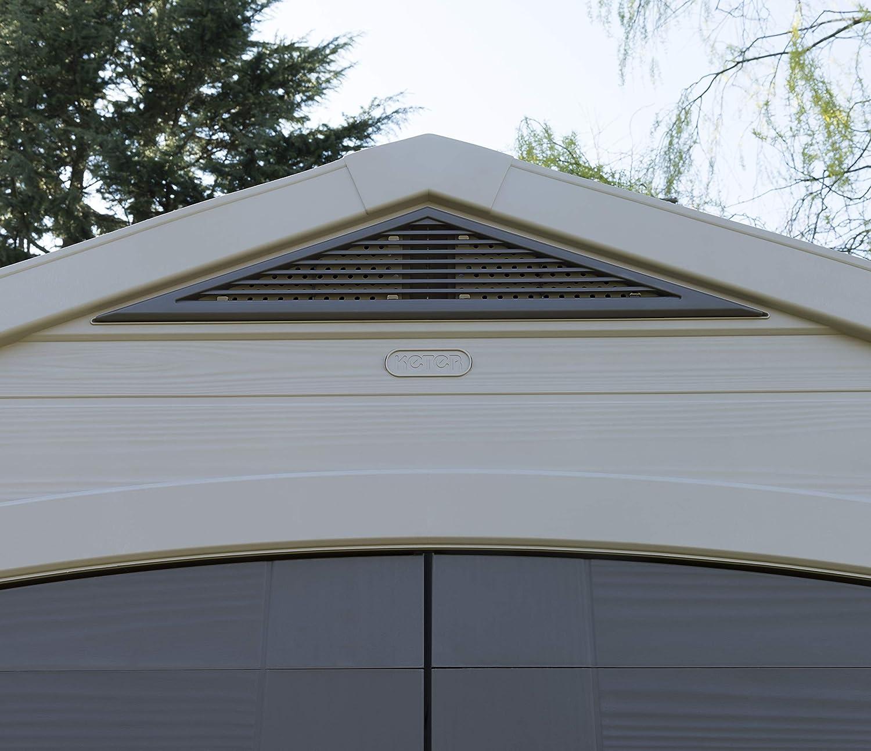 Keter - Caseta de jardín exterior Factor 8x8 con escuadra incluida, Color marrón / Beige: Amazon.es: Jardín