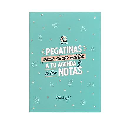 Mr Wonderful - Libreta de Pegatinas para Darle Vidilla a Tu Agenda ya Tus Notas, 16,5 x 23 x 0,8 cm, Azul