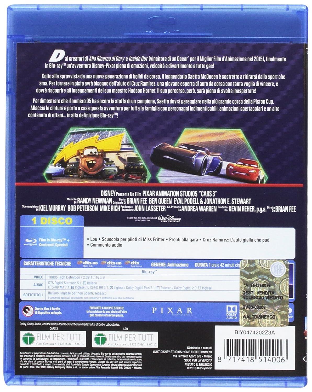 Cars 3 Blu Ray Brian Fee Pixar Animazione Ragazzi Cartoni Animati
