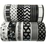 12 Rolls Washi Masking Tape Set Pattern, DIY Scrapbooking Sticker