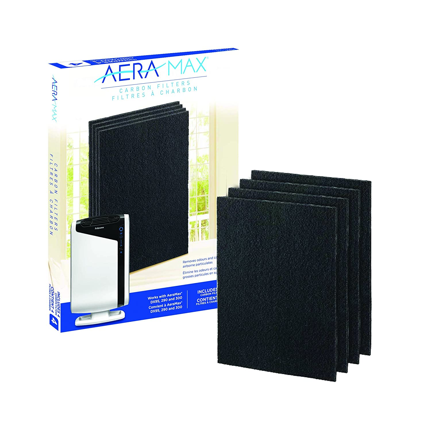 Fellowes Carbon Filters for AeraMax Air Purifiers - 4 Pack (9324201)