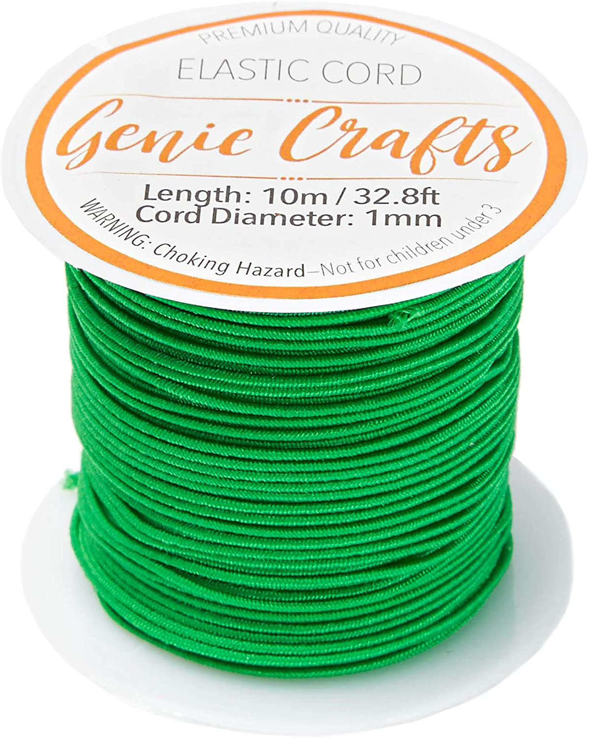 Beading Cords & Threads 12 Colors 24 Pack Genie Crafts 1mm Elastic ...
