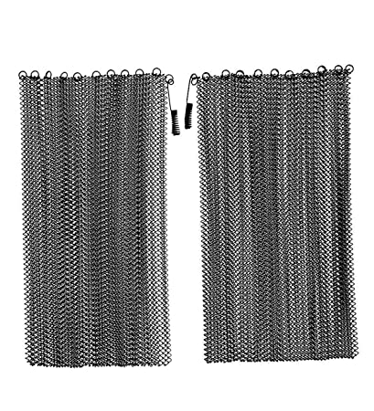 amazon com fireplace replacement black hanging mesh curtain screens rh amazon com fireplace replacement mesh screens outdoor fireplace replacement screens