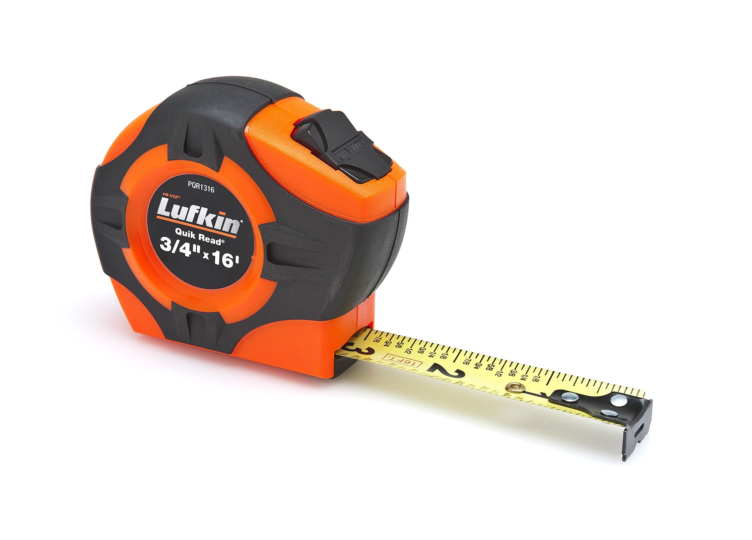 Lufkin PQR1316N Quickread Power Return Tape, 3/4'' x 16', Hi-Viz Orange