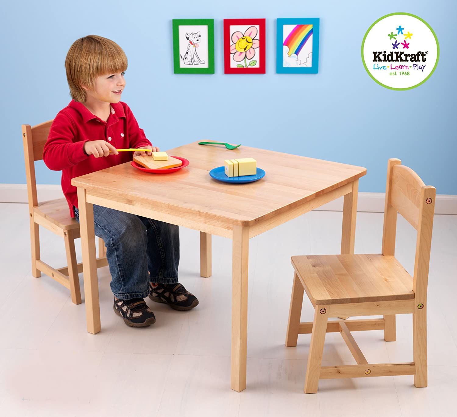 Amazon KidKraft Aspen Table and Chair Set Natural Toys & Games