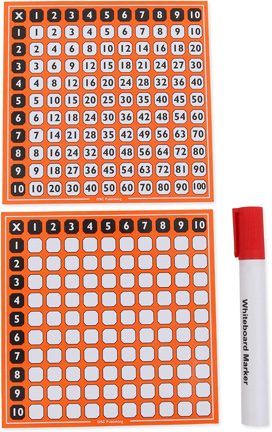Grille De Tables De Multiplication 100 Carres Double Face Double