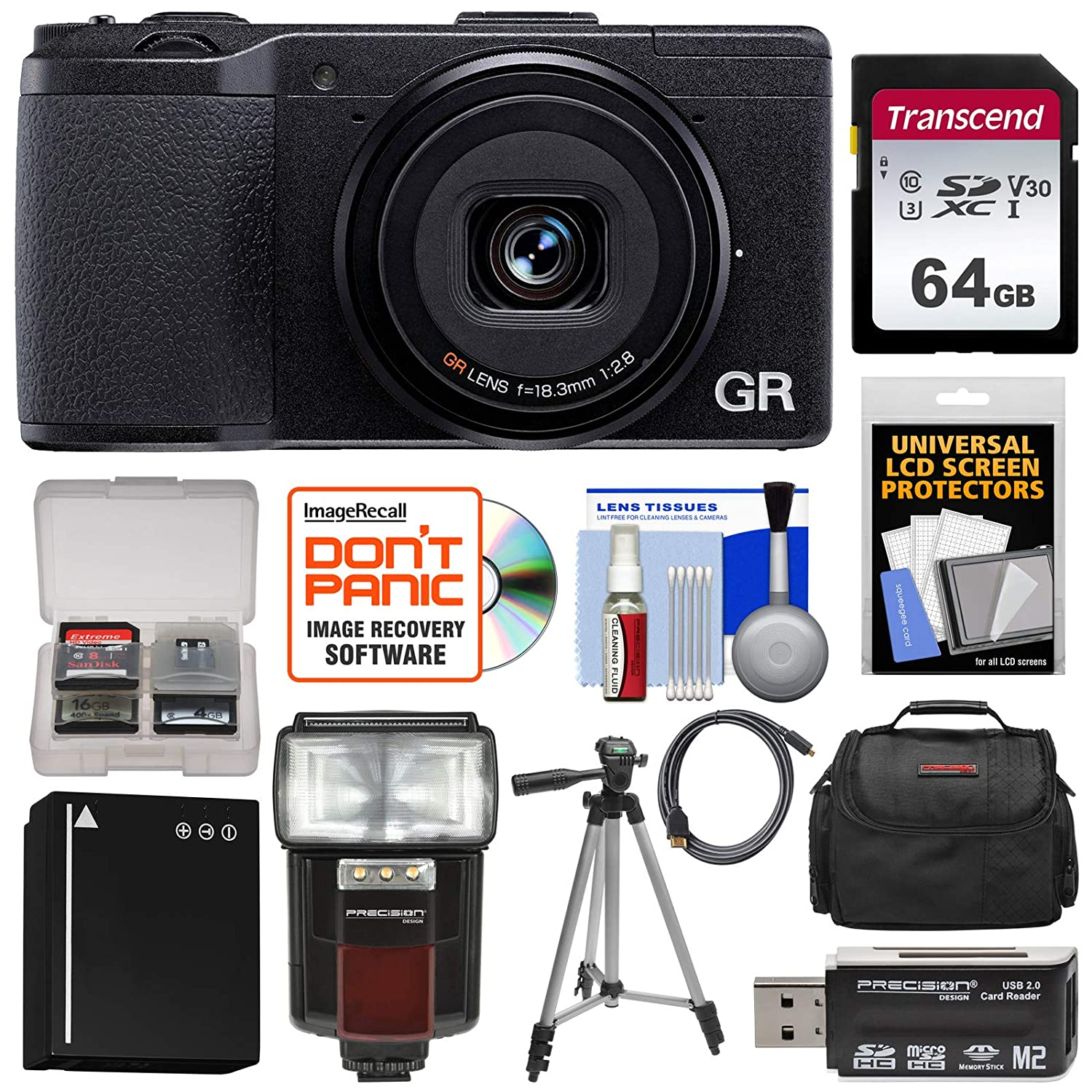Amazon com : Ricoh GR II Wi-Fi Digital Camera with 64GB Card +