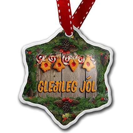 christmas ornament merry christmas in icelandic from iceland neonblond - Merry Christmas In Icelandic