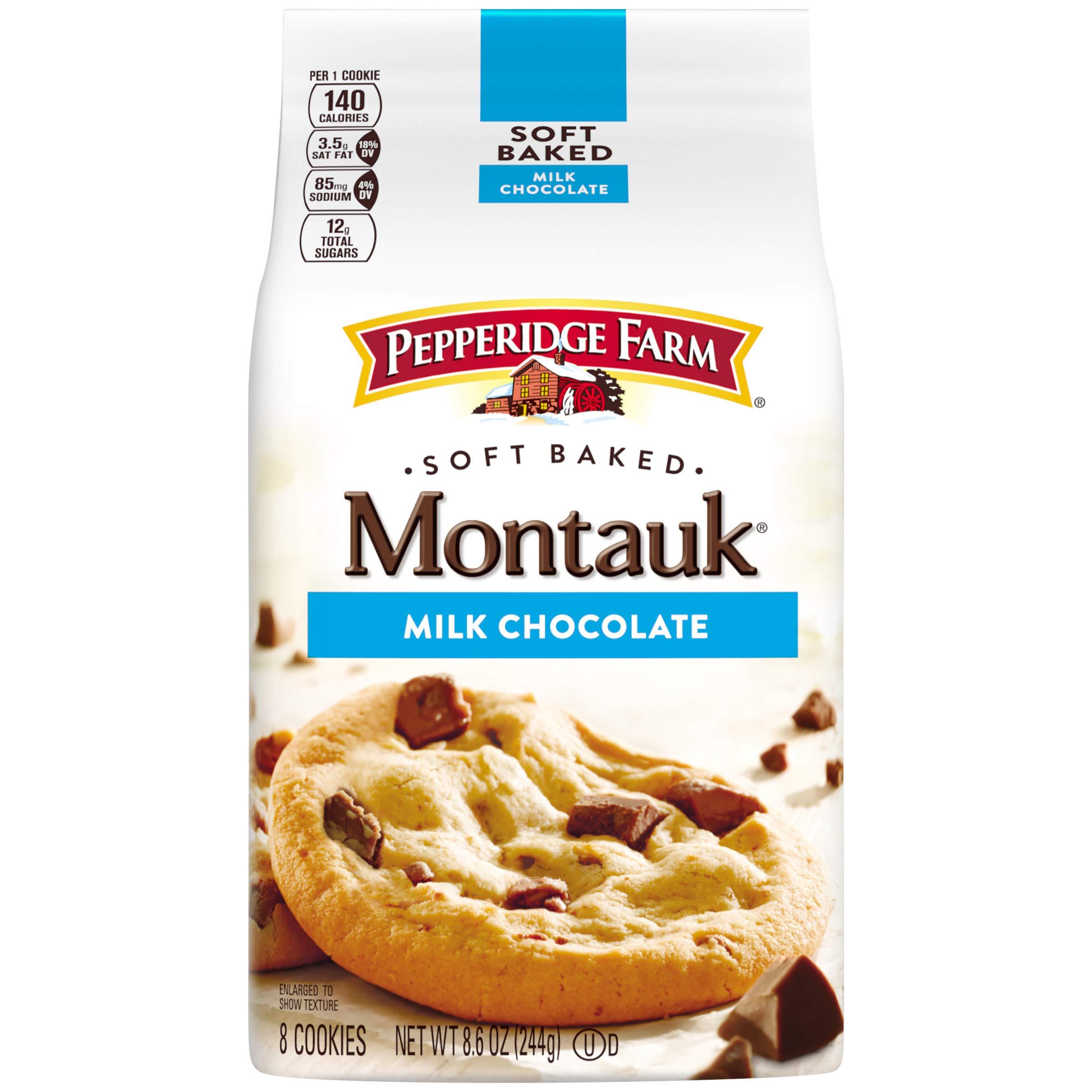 Pepperidge Farm, Montauk, Soft Baked, Cookies, Milk Chocolate, 8.6 Oz, Bag