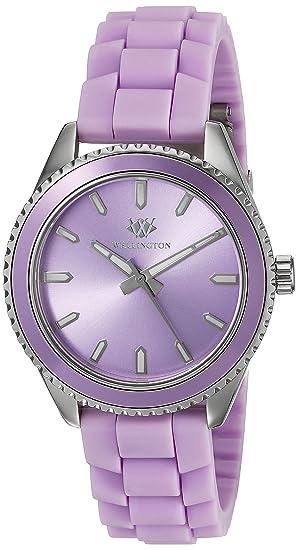 Wellington WN508-190D - Reloj de pulsera analógico para mujer, color lila: WELLINGTON: Amazon.es: Relojes