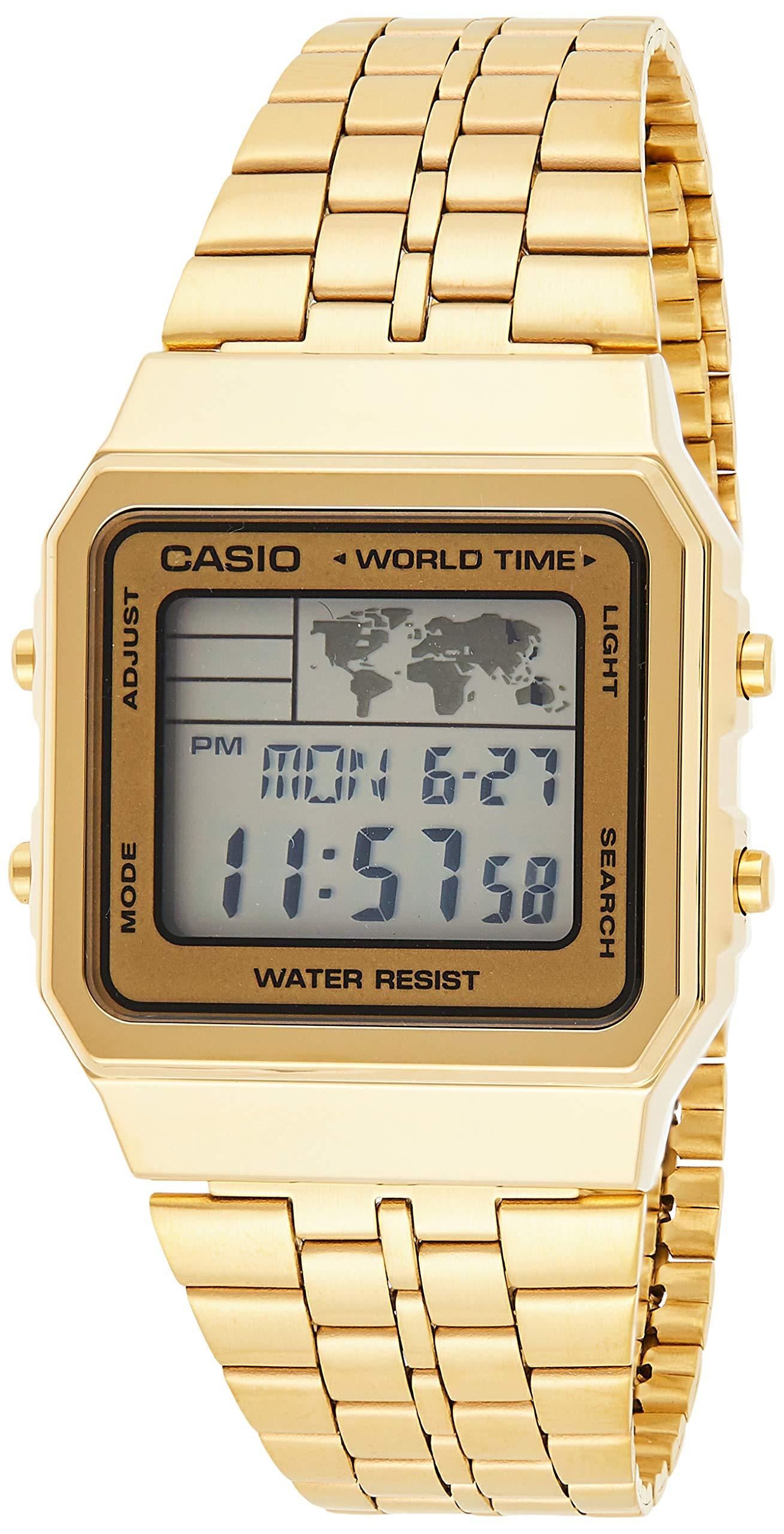 Casio Men's Digital Watch, Digital Display and Stainless Steel Strap