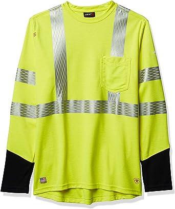 ARIAT Mens Flame Resistant Air Long Sleeve Crewwork Utility Tee Shirt Work Utility Tee Shirt