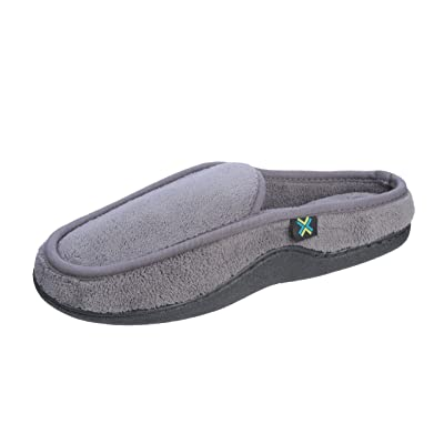 Roxoni Men's Slipper Terry Classic Style Clog Indoor Outdoor Grey | Slippers