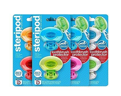 Steripod - Tapas higienizadoras para cepillos de dientes (8 unidades), multicolor