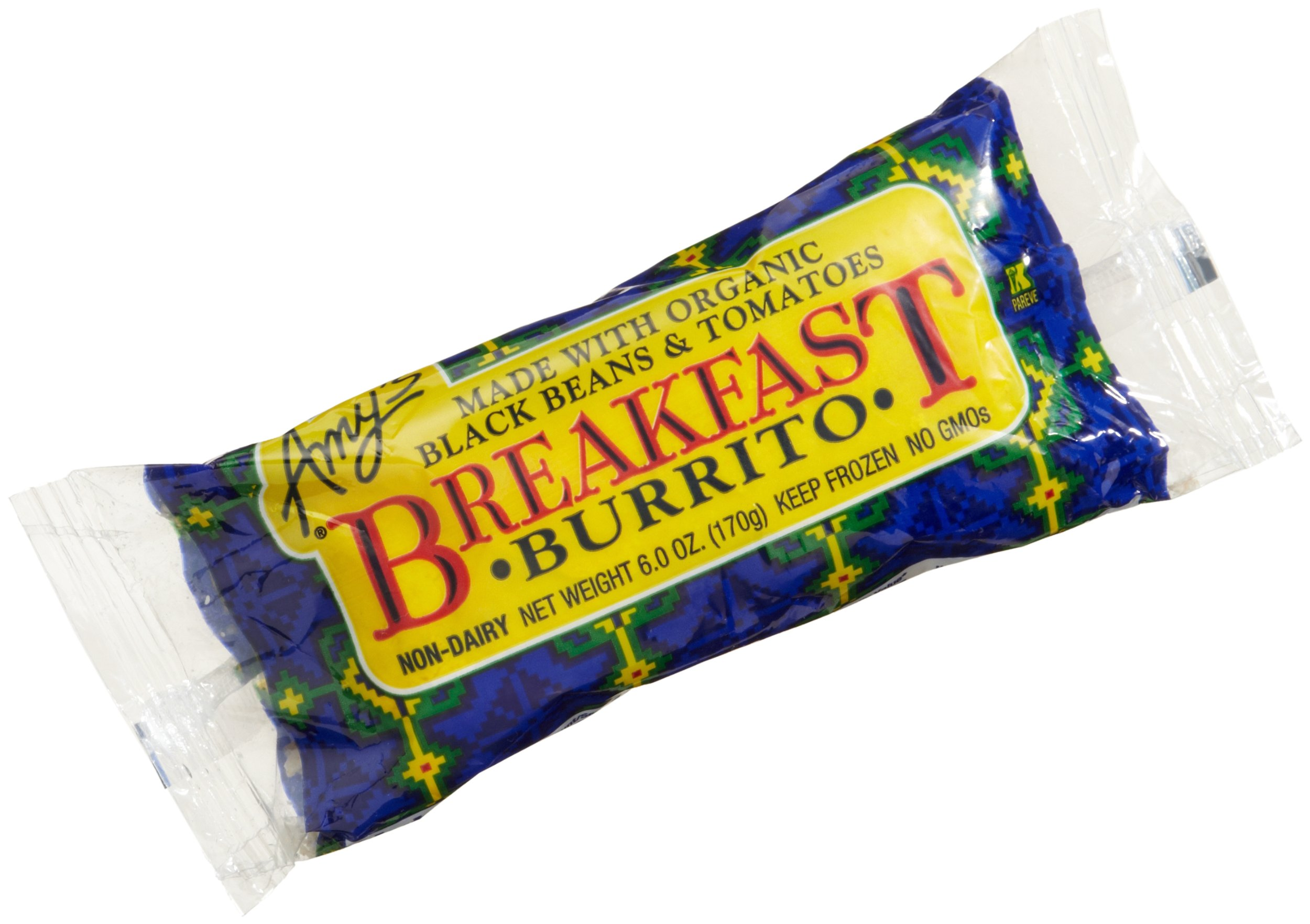 Amy's Breakfast Burrito, Organic, 6-Ounce Boxes (Pack of 12)