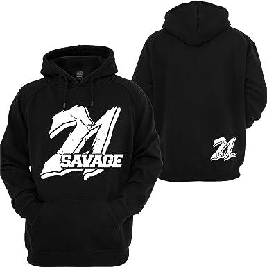 ddfb78b9b42 Custom Teez 21 Savage Hoodie Supreme Savage Slaughter Gang I Feel Like  Pablo Sweatshirt Black