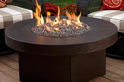 Amazoncom Oriflamme Savanna Stone Gas Fire Pit Table Table - Outdoor gas fire pit table top