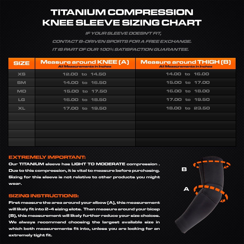 Titanio de compresión arm-knee funda – con titanio biocerámica ...