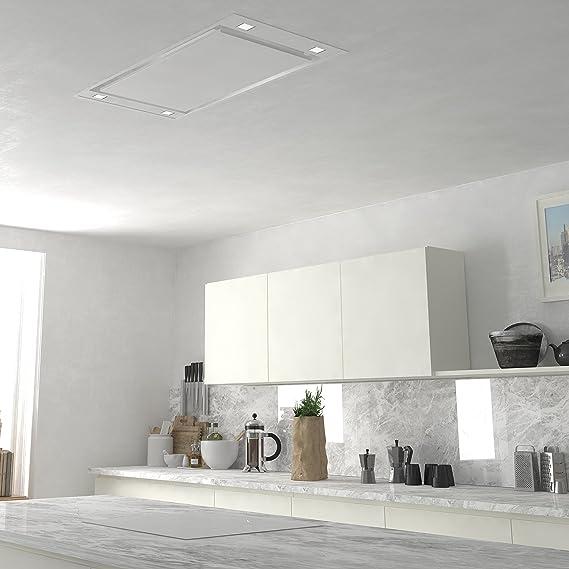 frecan – Campana techo nstar 90 cm acero inoxidable: Amazon.es ...